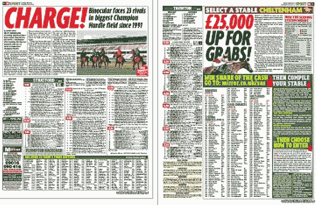 Daily Mirror Racing Pages