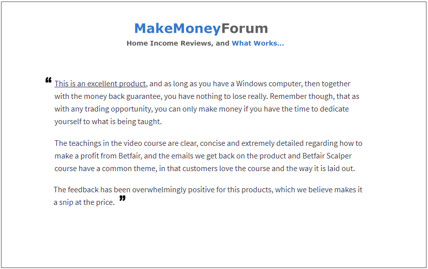 money forum scalping review